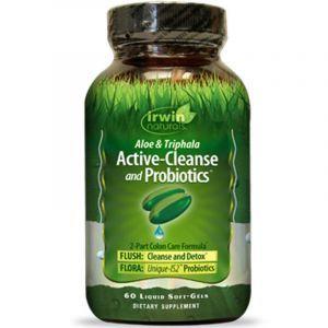 Очистка кишечника и пробиотики, Active-Cleanse and Probiotics, Irwin Naturals, 60 гелевых капсул