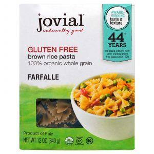 Паста из коричневого риса, фарфалле, Brown Rice Pasta, Farfalle, Jovial, органик, 340 г