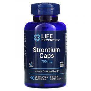 Стронций для здоровья костей, Strontium, Life Extension, 750 мг, 90 кап. (Default)