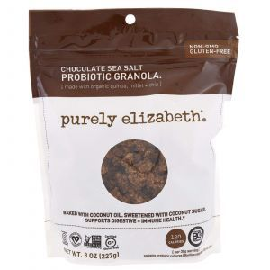Пробиотик-гранола, шоколад и морская соль, Probiotic Granola, Purely Elizabeth, 227 г