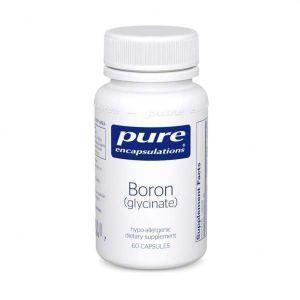 Бор (глицинат), Boron (glycinate), Pure Encapsulations, для баланса гормонов, прочности и здоровья костей, соединительной ткани и метаболизма питательных веществ, 60 капсул