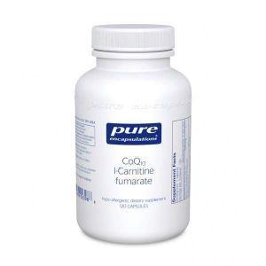 Коэнзим Q10 L-карнитин фумарат, CoQ10 l-Carnitine Fumarate, Pure Encapsulations, 120 капсул