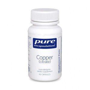 Медь (цитрат), Copper (citrate), Pure Encapsulations, 60 капсул
