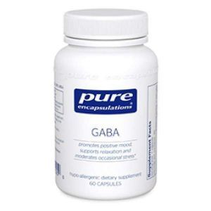ГАМК, GABA, Pure Encapsulations, 60 капсул