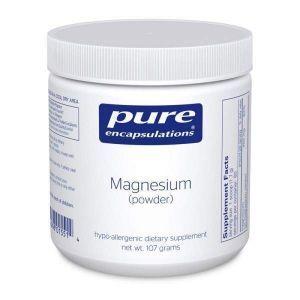 Магний (порошок), Magnesium (powder), Pure Encapsulations, 107 гр.