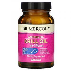Жир криля для женщин, Krill Oil, Dr. Mercola, антарктический, 90 капсул (Default)