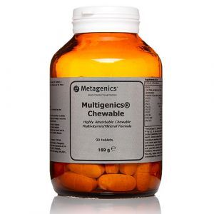 Мультивитамины и минералы, Multigenics Chewable, Metagenics, вкус апельсина, 90 жевательных таблеток