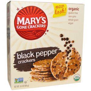 Органические крекеры из черным перцем, Mary's Gone Crackers, 184 г.