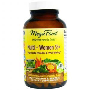 Мультивитамины для женщин 55+, Multi for Women, MegaFood, 120 таблеток