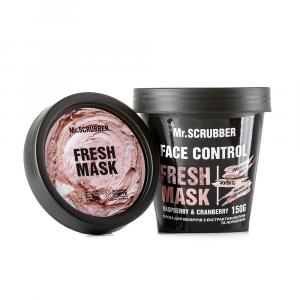 Маска для лица с экстрактом малины и клюквы, Face Control Fresh Mask, Mr. Scrubber, 150 гр