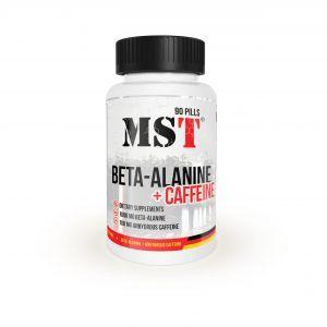 Бета-аланин + кофеин, Beta-Alanine + Caffeine, MST, 90 капсул