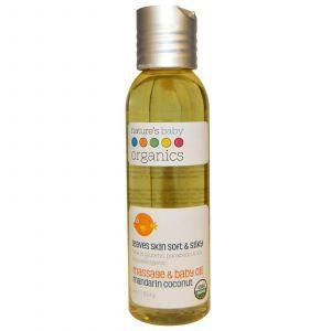 Детское массажное масло, Massage Oil, Nature's Baby Organics, 113,4 г