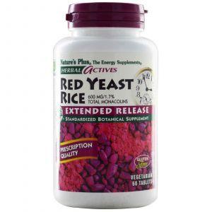 Красный дрожжевой рис, Nature's Plus, 600 мг, 60 та
