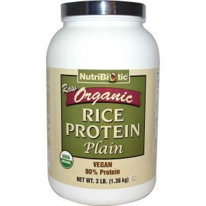 Рисовый протеин органик, NutriBiotic, 1.36 кг