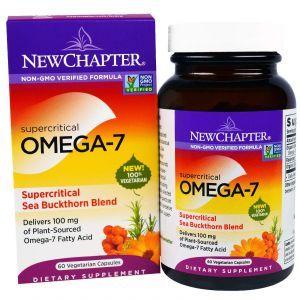 Омега-7, Omega-7, New Chapter, 60 капсул