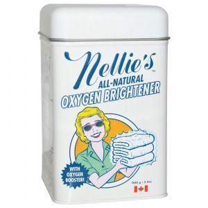 Отбеливающий порошок, (Oxygen Brightener, Powder),Nellie's All-Natural, 900 г