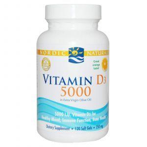Рыбий жир омега-Д3 (апельсин), Nordic Naturals, 5000 мг, 120 кап.