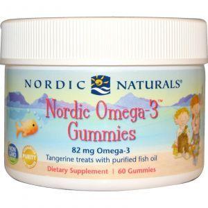 Рыбий жир для детей (мандарин), Nordic Naturals, 60 желе