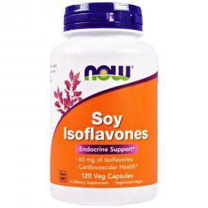 Соевые изофлавоны, Soy Isoflavones, Now Foods, 120 капсул