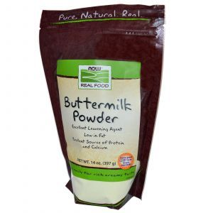 Пахта, сухой порошок, (Buttermilk Powder), Now Foods, 397 г