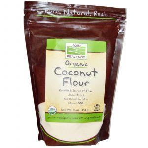 Кокосовая органическая мука, Now Foods, 454 г.