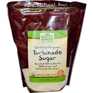 Тростниковый сахар (турбинадо), Now Foods, 1134 г