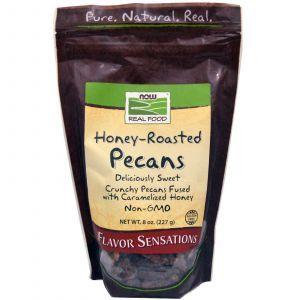 Орехи пекан, (Raw Pecan), жаренные, Now Foods, 227 г