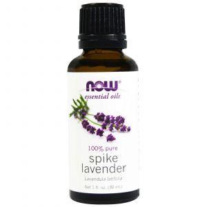 Эфирное масло лаванды (Essential Oils, Spike Lavender), Now Foods, 30 мл