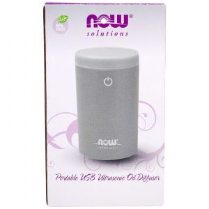 Диффузор, ультразвуковой, (Ultrasonic USB Oil Diffuser), Solutions, Now Foods, 1 шт.