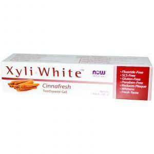 Зубная паста-гель с корицей, Now Foods, 181 г