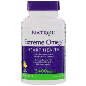 Омега Extreme, Extreme Omega, Natrol, 2,400 мг, 60 кап.