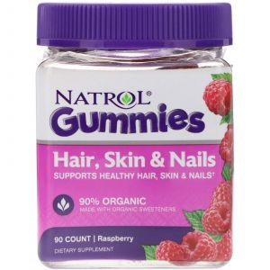 Жевательные конфеты для волос, кожи и ногтей, Hair, Skin & Nails, Natrol, 90 штук