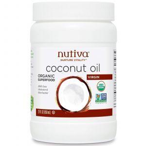 Кокосовое масло холодного отжима, Nutiva, 858 мл