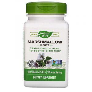 Корень алтея, Marshmallow, Nature's Way, 480 мг, 100 ка