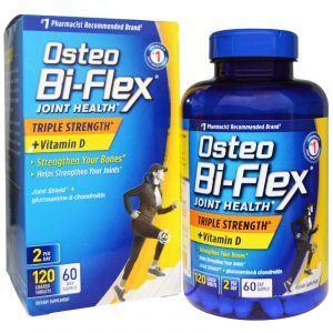 Здоровье суставов, тройная сила + витамин D (Joint Health), Osteo Bi-Flex, 120 таблеток