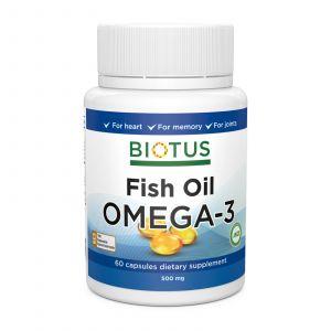 Омега-3 рыбий жир, Omega-3 Fish Oil, Biotus, 60 капсул