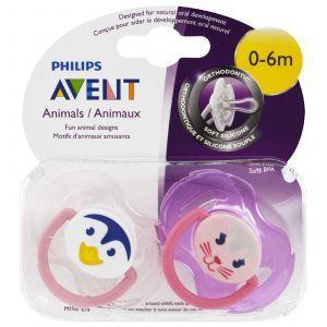 Ортодонтическая пустышка для малышей, Orthodontic Pacifiers, 0-6 мес., Philips Avent, 2 шт