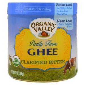 Топленое масло гхи, Ghee, Clarified Butter, rganic Valley Purity Farms, органик, 368 г