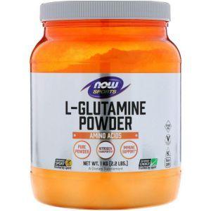 Глютамин, L-Glutamine, Now Foods, Sports, порошок, 1 кг