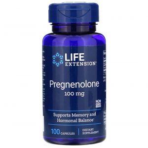 Прегненолон, Pregnenolone, Life Extension, 100 мг, 100 капсул
