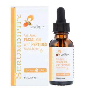Антивозрастная сыворотка, Anti-Aging Facial Oil with Peptides, Azelique, 30 мл