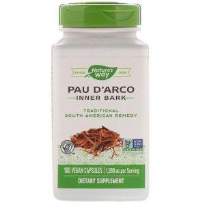 По д'арко, Pau d'Arco, Nature's Way, внутренняя кора, 545 мг, 180 капсул