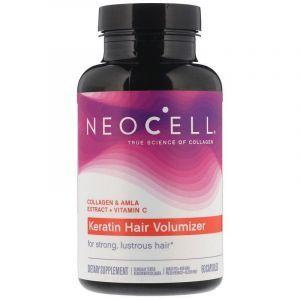 Коллаген и кератин, объем волос, Keratin Hair Volumizer, Neocell, 60 капсул