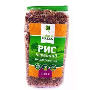 Рис красный цельнозерновой нешлифованный, NATURAL GREEN, 400 г