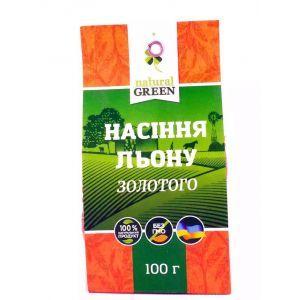 Золотой лён, NATURAL GREEN, 100 г