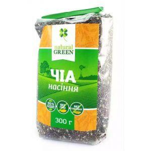 Семена чиа, NATURAL GREEN, 300 г
