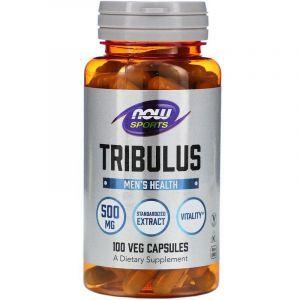 Трибулус, Спорт, Now Food, 500 мг, 100 капсул