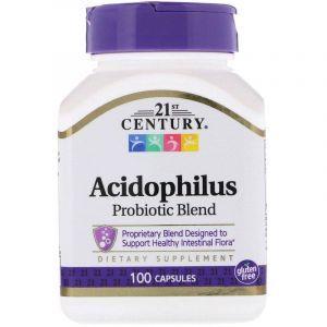 Пробиотики, 21st Century Health Care, 100 капсул