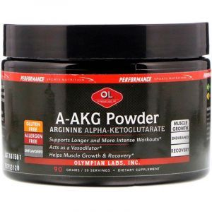 Аргинин альфа-КГ, Arginine Alpha-Ketoglutarate, Olympian Labs Inc, 90 г.