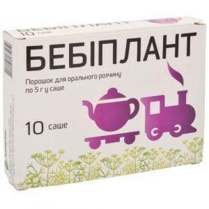 Бебиплант, средство от коликов и дискомфорта ЖКТ у младенцев, ИнтерХим, порошок, 10 саше по 5 г